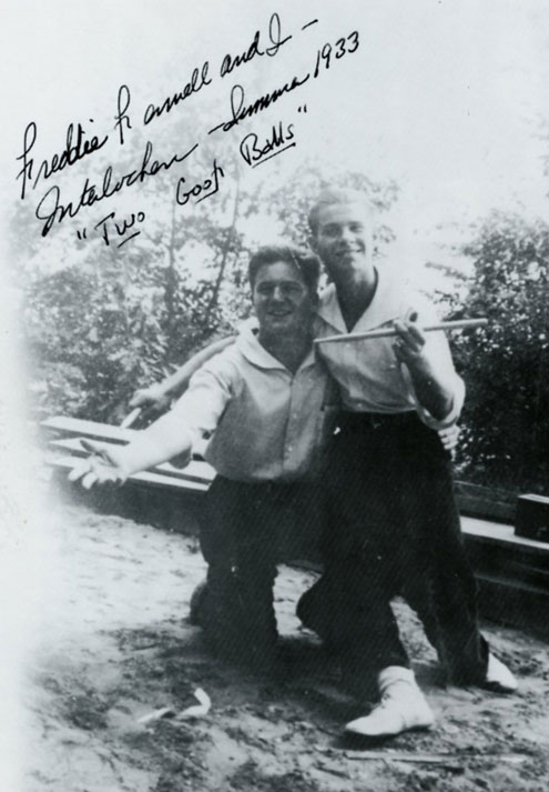 Bill Ludwig and Frederick Fennell at Interlochen.