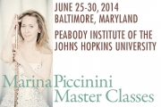 Peabody Marina Piccinini International Flute Master Classes